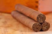 Genuine Cuban cigars — Stock Photo