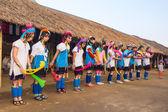 Karen tribal girls from Padaung — Stock Photo