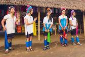 Karen tribal girls from Padaung — ストック写真