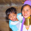 Karen tribal woman with her son — Stock Photo #66351377