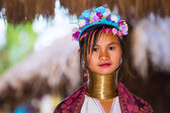 Karen tribal girl — Stock Photo