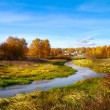 Beautiful autumn landscape, forest and river — Stock Photo #53016429