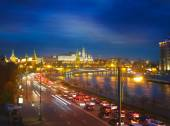 Bright night urban landscape, Moscow — Stock Photo