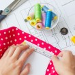 Sewing kit, different subjects — Stock Photo #55469393