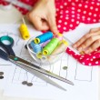 Sewing kit, different subjects — Stock Photo #55469403