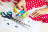 Sewing kit, different subjects — Stock Photo