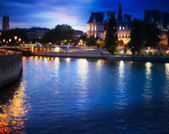 Out-of-focus shimmering city background of Paris, France — Stock Photo