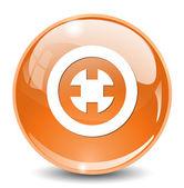 Target web icon glass — Stok Vektör