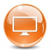 Icona web monitor — Vettoriale Stock