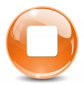 Media player stop web icon — Stock Vector