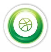 Ícone de bola de basket — Vetor de Stock