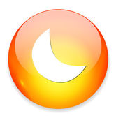 Crescent web button — Stock Vector