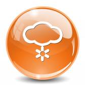 Cloud with snowflake icon — Stock Vector