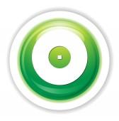 Compact disk web icon — Stock Vector