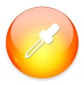 Dropper shiny button — Stock Vector