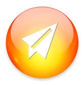 Message web icon — Stok Vektör
