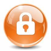 Lock web icon — Stock Vector