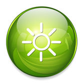 Weather sun icon — Stok Vektör
