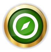 Compass web icon — Stock Vector