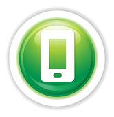 Smart telefon knappen — Stockvektor