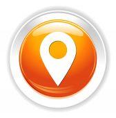 Botón pin mapa — Vector de stock