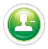 Delete member icon — Stock Vector