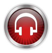 Headphones web icon — Stock Vector