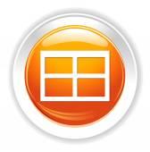 Window button icon — Vettoriale Stock