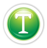 Letter T web icon — Stockvektor