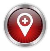 Botão pino de mapa — Vetor de Stock
