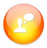 Chatting web icon — Stock Vector