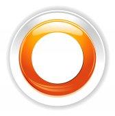 Circle web icon — Stock Vector