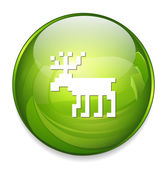 Deer web icon — Stock Vector