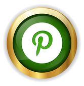 Letter P web icon — Stock Vector