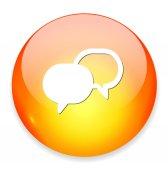Talk bubble icon — Stock Vector