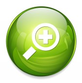 Magnifier web icon — Stock Vector