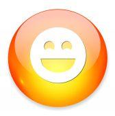 Smiley face icon — Stock Vector