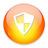 Botón de web Shield — Vector de stock