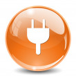 Power plug button — Vector de stock  #70026137