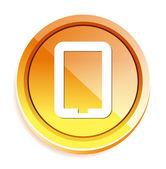 Smart phone button — Stock Vector