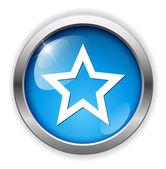 Gwiazda ikona internetowych — Wektor stockowy