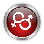 Male and Female sex sign icon — Stock Vector