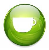 Coffee web icon — Stock Vector