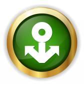 Navy web icon — Stock Vector