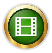 Film strip reel icon — Stock Vector