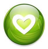 Heart  web button — Stock Vector