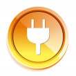 Power plug button — Vector de stock  #70032933
