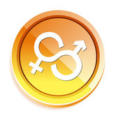 Male and Female sex sign icon — Stok Vektör
