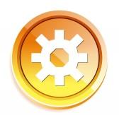 Cog web icon — Stock Vector