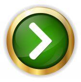Next  circle glossy icon — Stock Vector